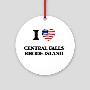 I love Central Falls Rhode Island Ornament (Round)