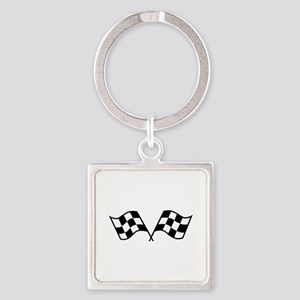 Checkered Racing Flags Keychains