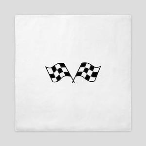 Checkered Racing Flags Queen Duvet