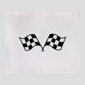 Checkered Racing Flags Throw Blanket