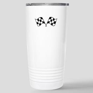 Checkered Racing Flags Travel Mug