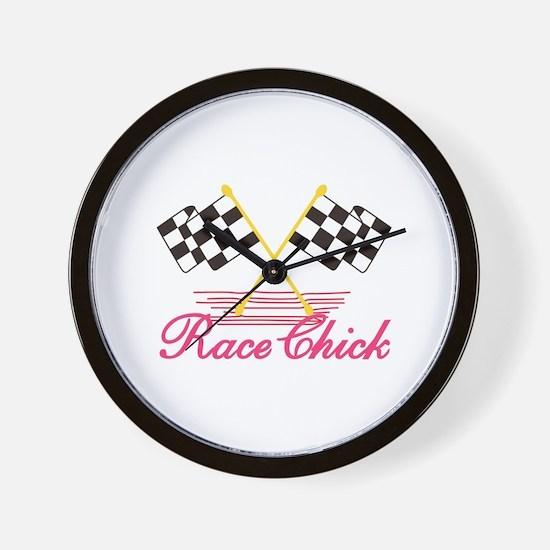 Race Chick Wall Clock