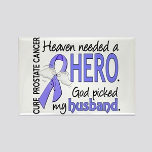 Prostate Cancer HeavenNeededHero1 Rectangle Magnet