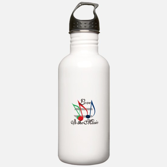 Love is the Music Water Bottle