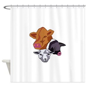 Sheep Farm Shower Curtains