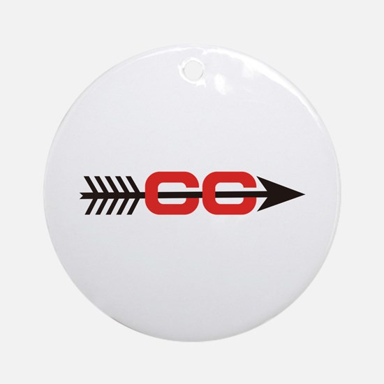 Cross Country Logo Ornament (Round)