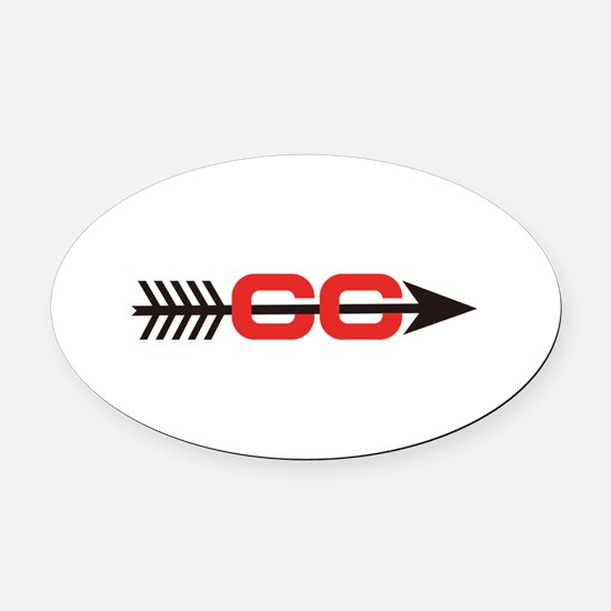 Cross Country Logo Oval Car Magnet
