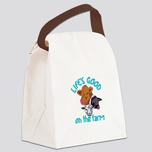 Farming Life is Good Canvas Lunch Bag