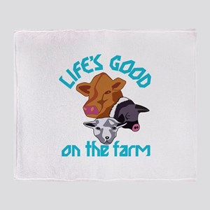 Farming Life is Good Throw Blanket
