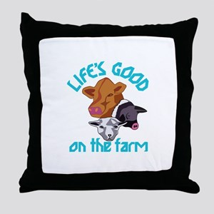 Farming Life is Good Throw Pillow