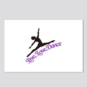 Live, Love, Dance Postcards (Package of 8)