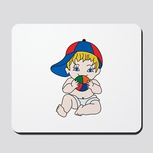Baby Boy with Ball Mousepad