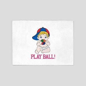 Play Ball! 5'x7'Area Rug