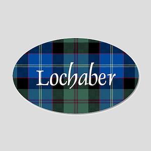 Tartan - Lochaber dist. 20x12 Oval Wall Decal