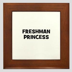 freshman Princess Framed Tile