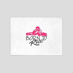 Born To Race 5'x7'Area Rug