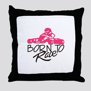 Born To Race Throw Pillow