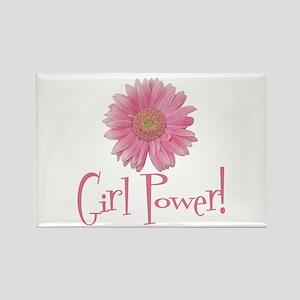 Girl Power Daisy Rectangle Magnet