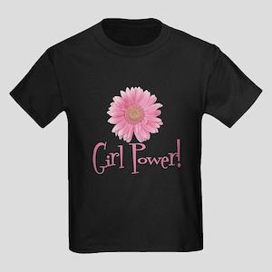 Girl Power Daisy Kids Dark T-Shirt