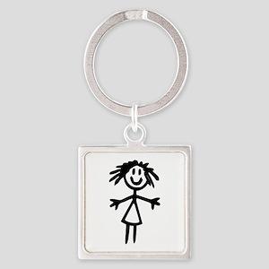Stick Girl Keychains