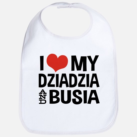 Dziadzia and Busia Bib