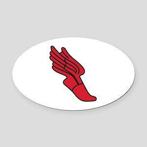 Track Logo Oval Car Magnet