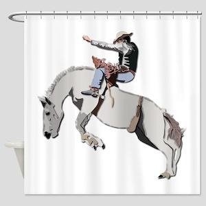 Bronc Rider Shower Curtain