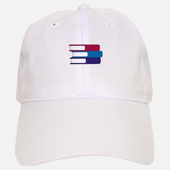 Stack of Books Baseball Baseball Baseball Cap