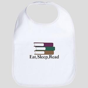Eat,Sleep,Read Bib