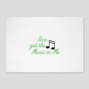 Ive Got the Music In Me 5'x7'Area Rug