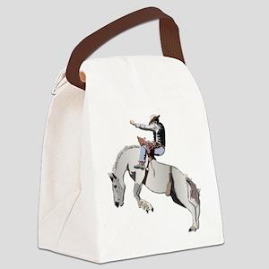 Bronc Rider Canvas Lunch Bag