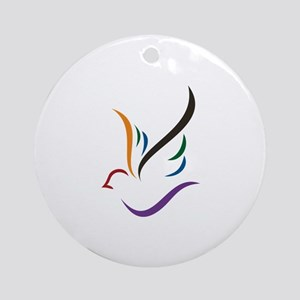 Abstract Dove Ornament (Round)
