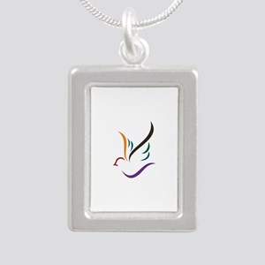 Abstract Dove Necklaces