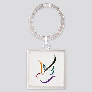 Abstract Dove Keychains