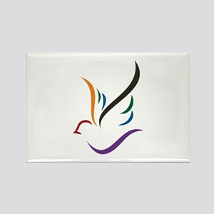 Abstract Dove Magnets