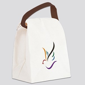 Abstract Dove Canvas Lunch Bag