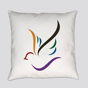 Abstract Dove Everyday Pillow