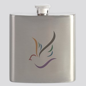 Abstract Dove Flask