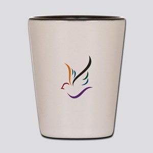 Abstract Dove Shot Glass