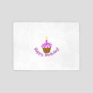 Happy Birthday! 5'x7'Area Rug