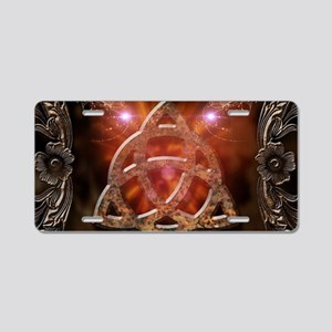 Celtic knot and floral elements Aluminum License P