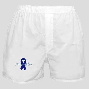 Blue Awareness Ribbon Boxer Shorts