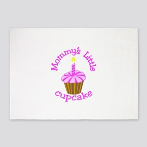 Mommy's Little Cupcake 5'x7'Area Rug