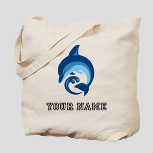 Blue Dolphin (Custom) Tote Bag