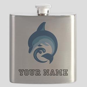 Blue Dolphin (Custom) Flask