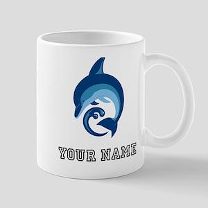 Blue Dolphin (Custom) Mugs
