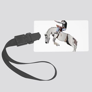 Bronc Rider Large Luggage Tag