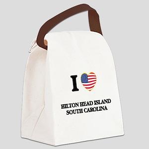 I love Hilton Head Island South C Canvas Lunch Bag