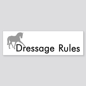 Dressage Rules Sidepass Bumper Sticker