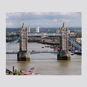 Tower Bridge, Thames River, London,  Throw Blanket